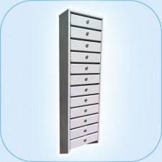Многосекционный почтовый шкаф ГПС-112