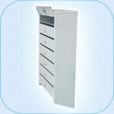 Многосекционный почтовый шкаф ПС-08